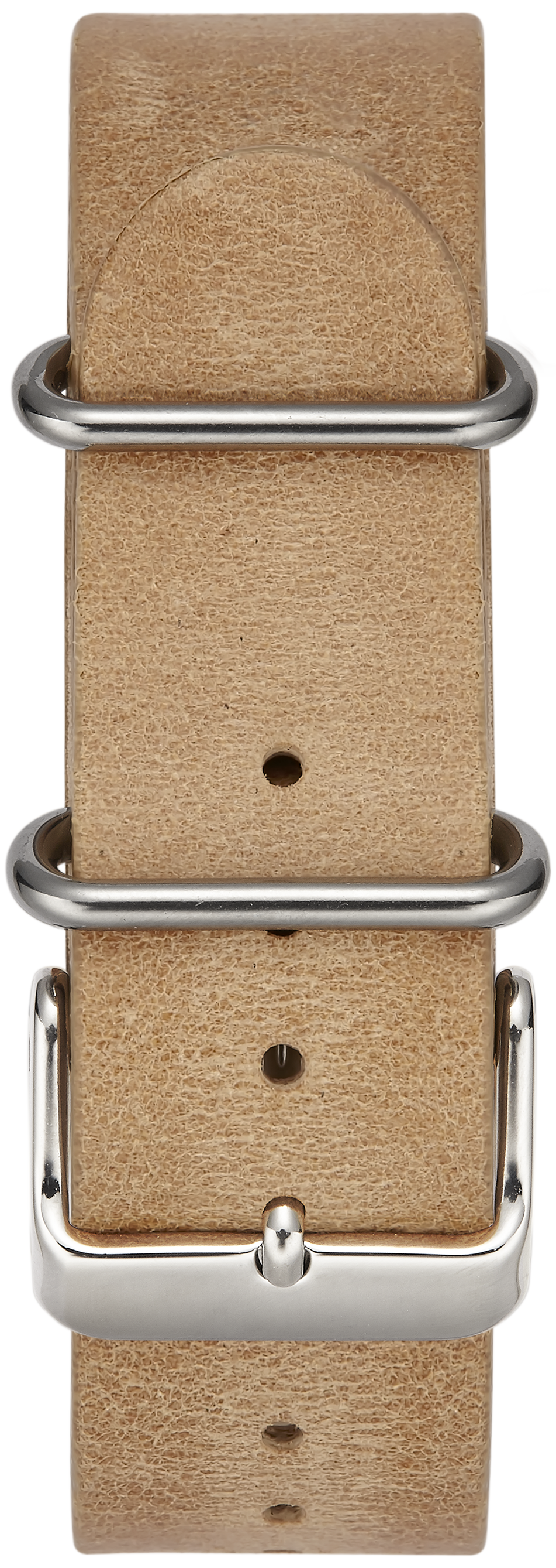 LIGHT BROWN W/ STAINLESS STEEL BUCKLE