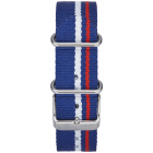 RED-WHITE-BLUE STRIPE W/ STAINLESS STEEL BUCKLE