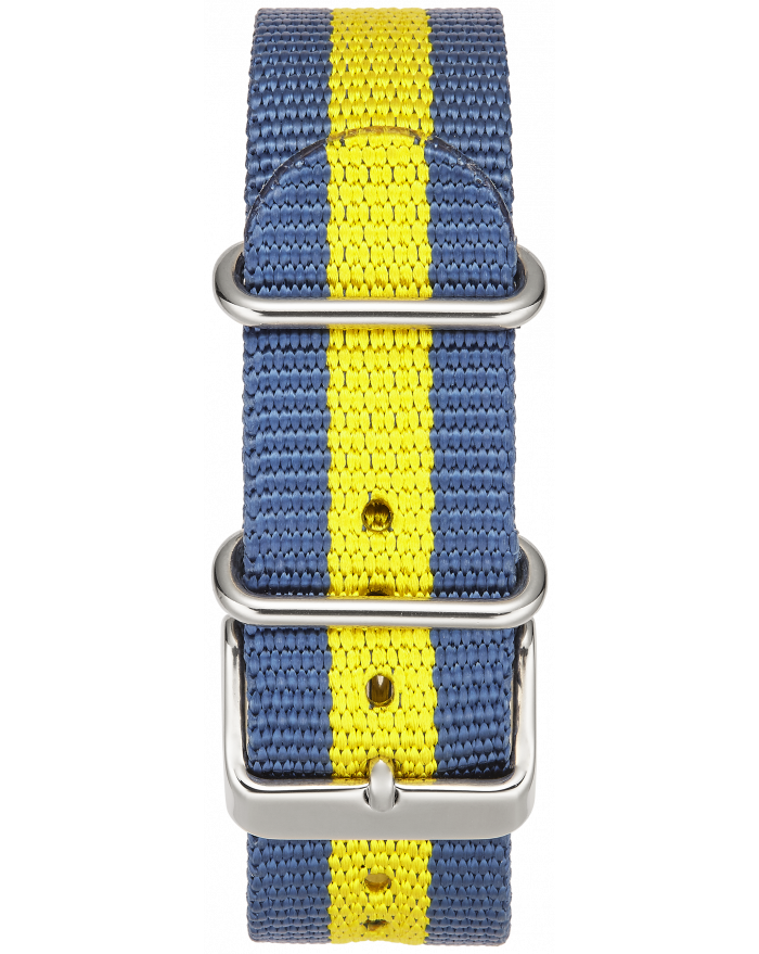 BLUE-YELLOW STRIPE W/ STAINLESS STEEL BUCKLE