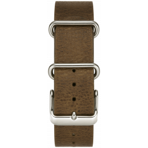 BROWN W/ STAINLESS STEEL BUCKLE