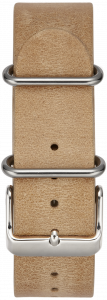 LIGHT BROWN W / STAINLESS STEEL BUCKLE