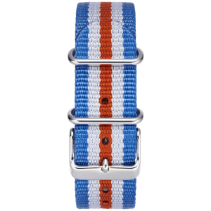 BLUE-WHITE-RED STRIPE W/  STAINLESS STEEL BUCKLE