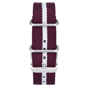 RED-WHITE STRIPE W/ STAINLESS STEEL BUCKLE