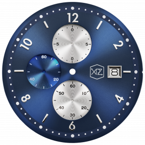 BLUE DIAL W/ SILVER INDEX SUNRAY