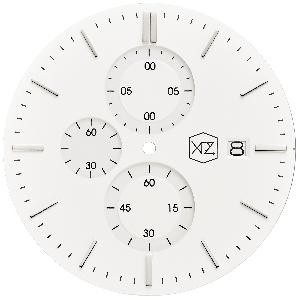 WHITE DIAL W/ SILVER INDEX